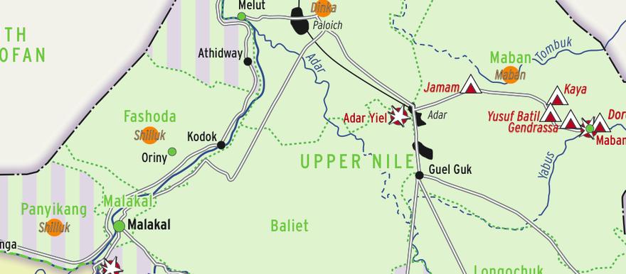 MAP Who controls Upper Nile state Radio Tamazuj