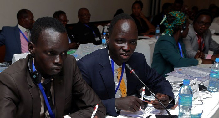 Photo: Members of the South Sudan Civil Society during the UNSC conference, September 3, 2016(Gurtong)