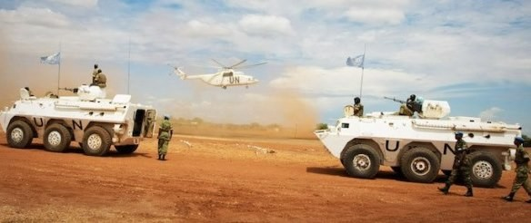 An Mi-26 lift cargo helicopter landing in Abyei | Photo | Stuart Price