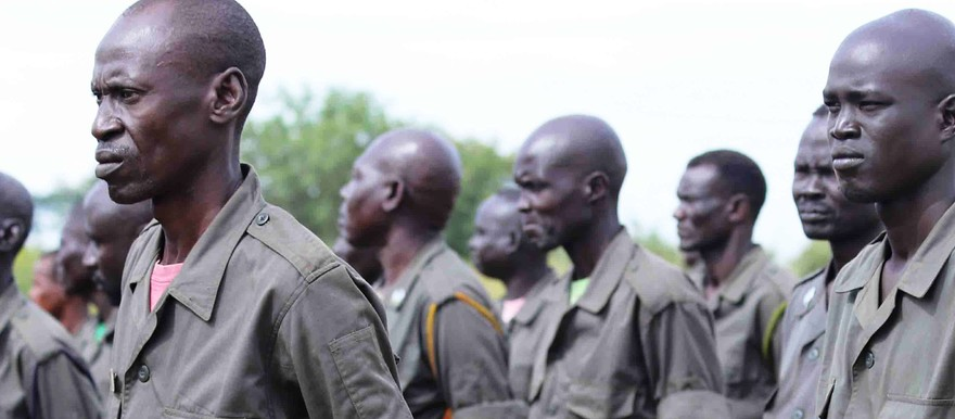 Military instructors drawn from government and opposition forces graduate at the Luri military facility on 4 September, 2019 (Radio Tamazuj)