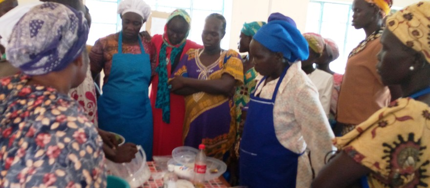 Photo: A group of women attending business training in Torit town on 21 February, 2020 (Radio Tamazuj)