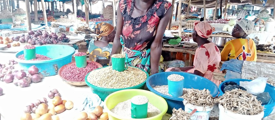 A business woman at Yei Dar-el Salam Market [Photo: Destiny Farm International]