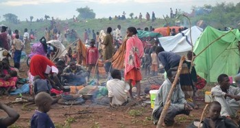 Photo: Displaced civilians at UN PoC in Wau town on 28 June, 2016/Francis Irigu