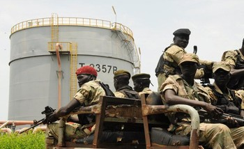 File photo: Security forces patrol the Dar Petroleum Operating Company oil production operated in Palogue oil field within Upper Nile State in South Sudan, September 7, 2016. (REUTERS)