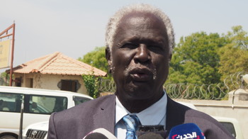 Prof. Abednego Akok Kacuol, the chairman of the South Sudan Nation Elections Commission