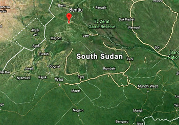 Photo: South Sudan map (Retrieved from Google maps)