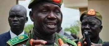 File photo: South Sudan army chief James Ajongo