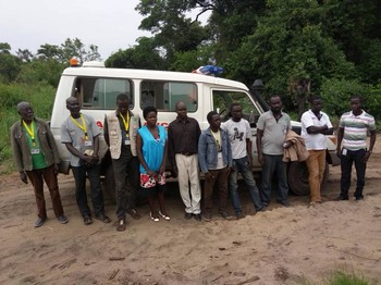 File photo: The seven aid workers released near the border with Uganda