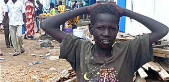 Photo: A street child in South Sudan's capital Juba. (Credit: The Niles)