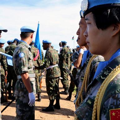 وصول أكثر من 100 شخص من القوات الصينية لحفظ السلام إلى جوبا