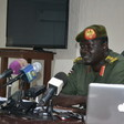 File photo: Santo Domic speaks to reporters in Juba on June 14, 2017. (Radio Tamazuj)