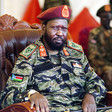 Photo: President Kiir at the headquarters of the SPLA in Juba. (AFP)
