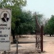 Photo: The gate of the Dr. John Garang Memorial University of Science and Technology in Bor, February 23, 2017. (Radio Tamazuj)