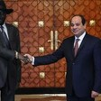 File Photo: A handout picture released by the Egyptian Presidency shows Egyptian President Abdel Fattah El-Sisi (R) shaking hands with South Sudan's President Salva Kiir at the presidential palace in the Egyptian capital, Cairo, January 10, 2017. (AFP)