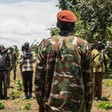 SPLA-IO forces at their base in Panyume, South Sudan. (AFP PHOTO)